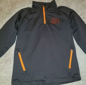 Auburn Sweatshirt Pullove with 3/4 Zip Youth 10-12